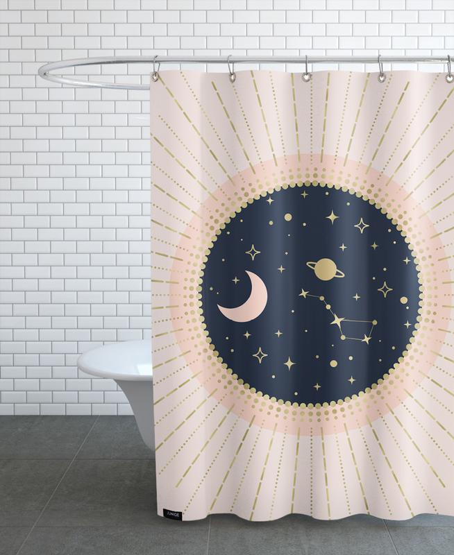 Love in Space Shower Curtain