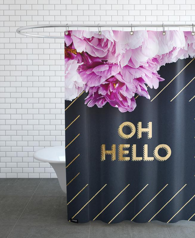 Alphabet & Buchstaben, Oh Hello Flowers -Duschvorhang