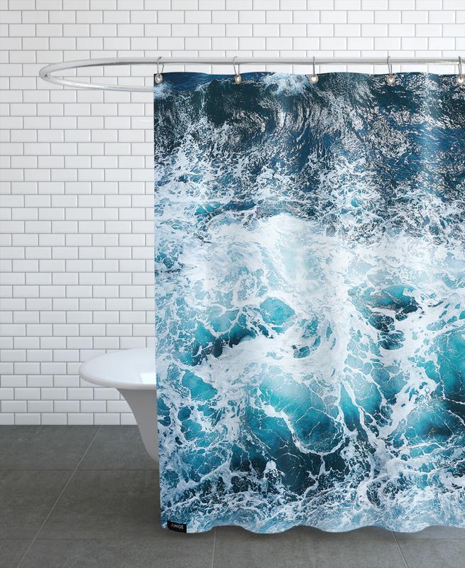 Blautöne des Meeres I -Duschvorhang