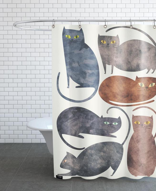 Chats, Cats rideau de douche
