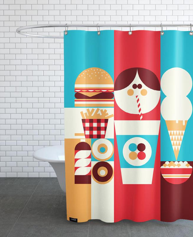 Fun Food Shower Curtain
