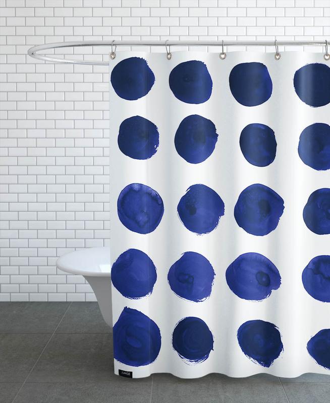 Patterns, Blue Dots Shower Curtain