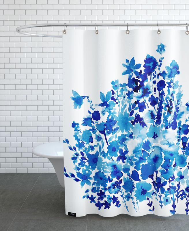 Floral Blue -Duschvorhang