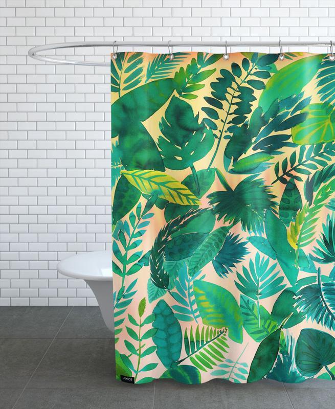 Jungle Leaf -Duschvorhang
