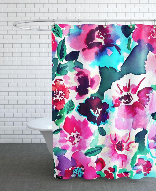 Zoe Floral Pink Shower Curtain