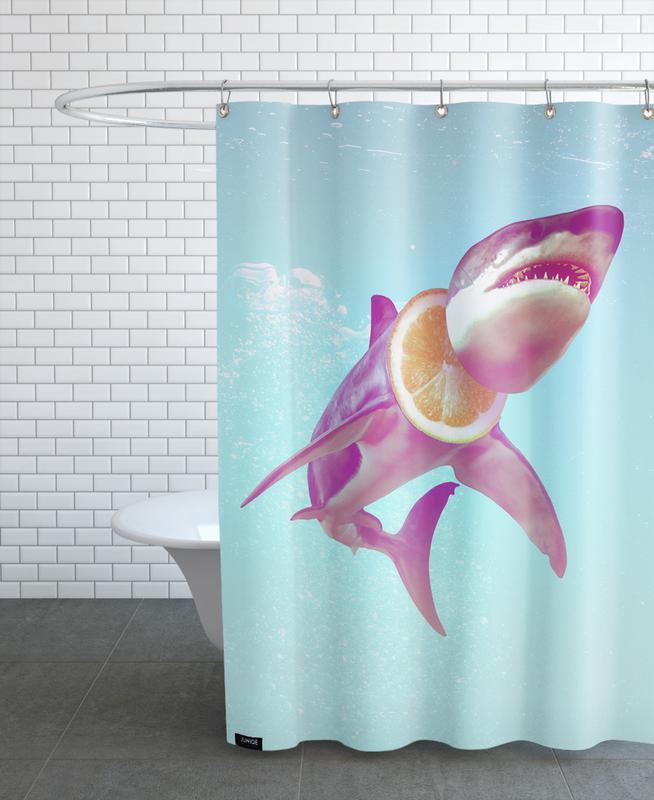 Lemon Shark Shower Curtain