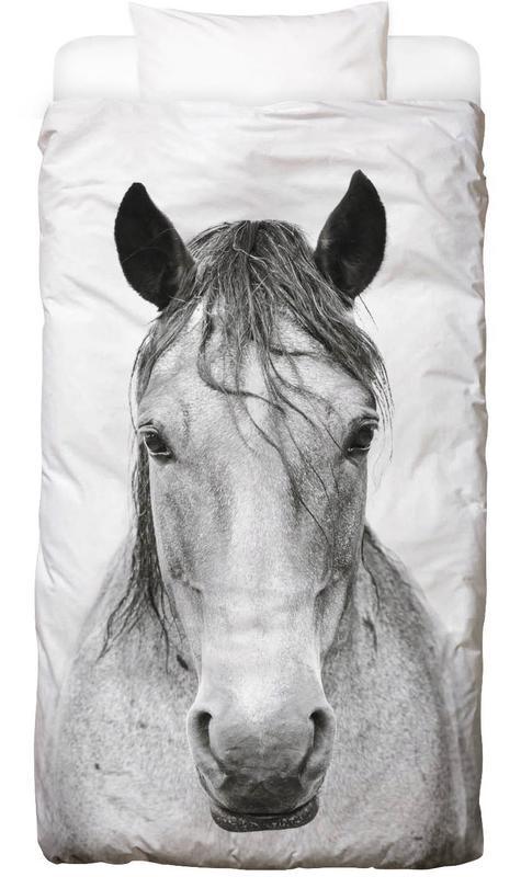 Horses, Black & White, Horse I Kids' Bedding