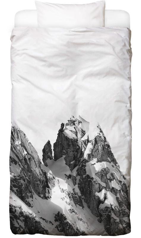 Mountains, Black & White, Peak Bed Linen