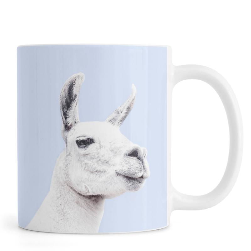 Llamas, Nursery & Art for Kids, Blue Llama II Mug