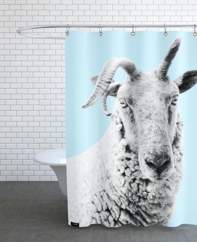 Blue Sheep rideau de douche