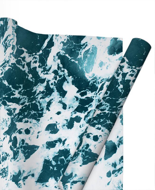 Ocean Blue Gift Wrap