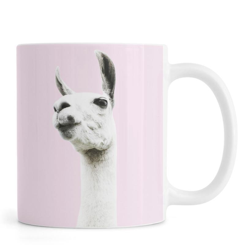 Llamas, Nursery & Art for Kids, Pink Llama Mug