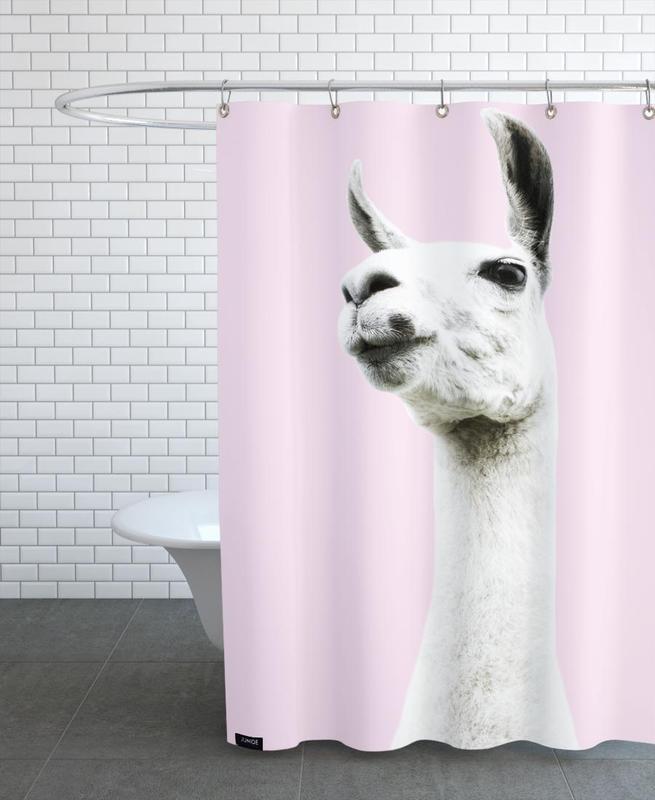 Pink Llama rideau de douche