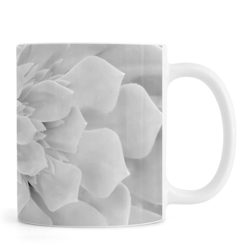 Leaves & Plants, White Succulent Mug