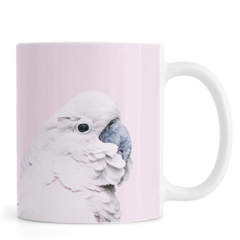 Nursery & Art for Kids, Pink Cockatoo Mug