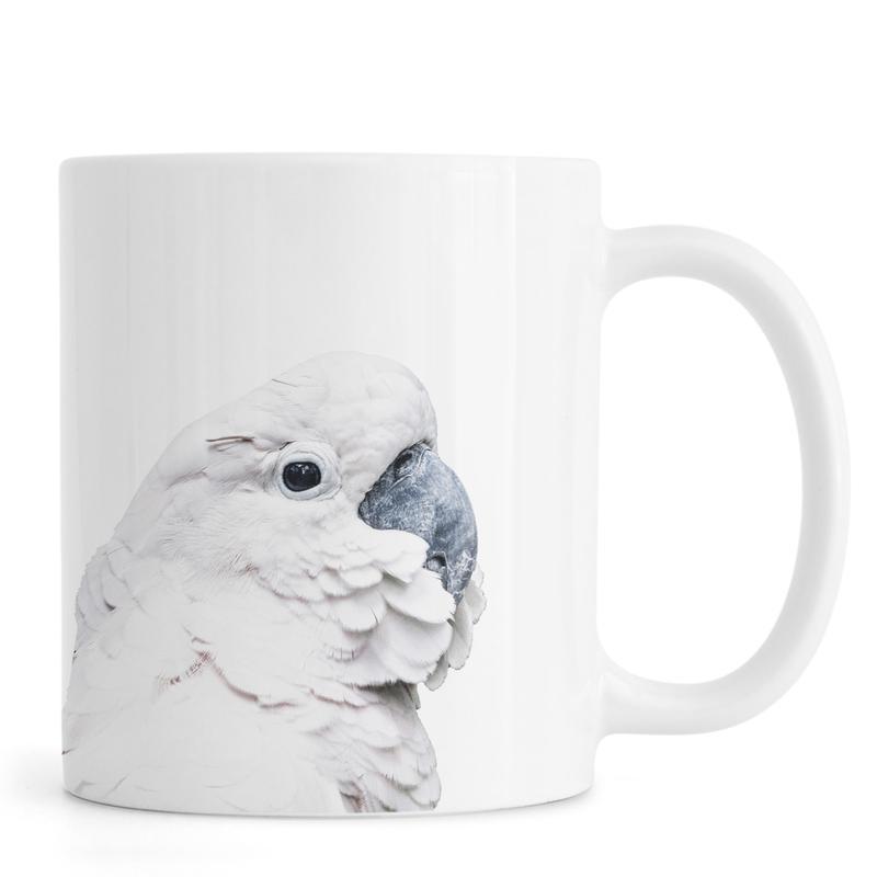 Black & White, Nursery & Art for Kids, White Cockatoo Mug