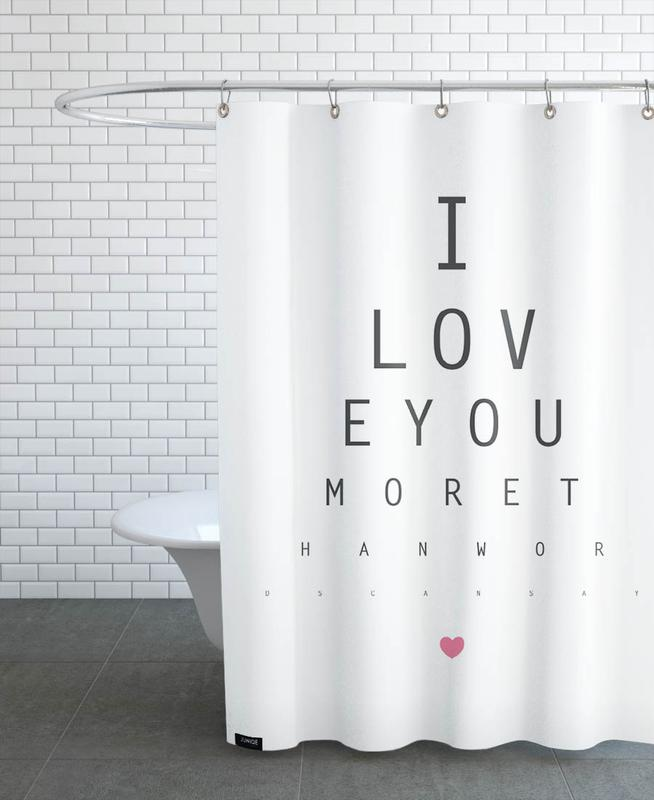 Love No.3 Shower Curtain