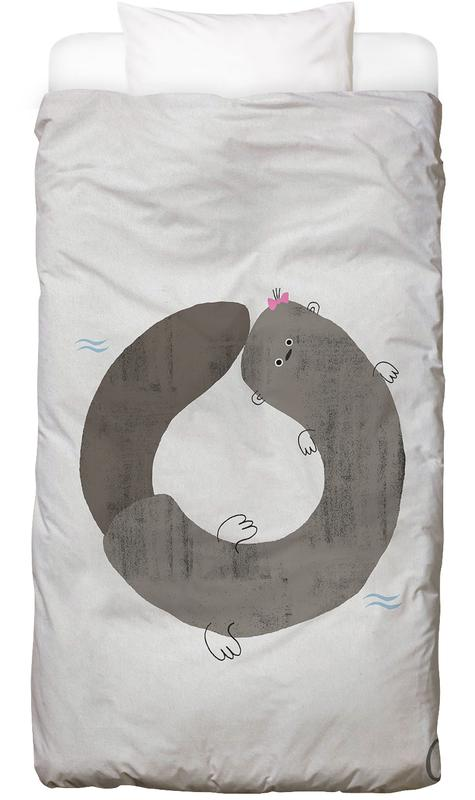 Alphabet & Buchstaben, Otter, Kinderzimmer & Kunst für Kinder, ABC Kids - O -Kinderbettwäsche