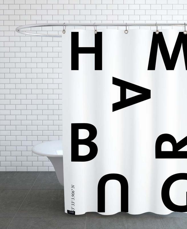 Black & White, Hamburg, Cities - Hamburg Shower Curtain