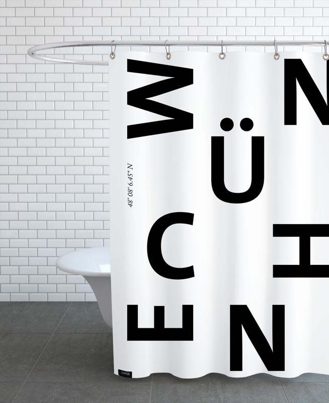 Noir & blanc, Munich, Cities - München rideau de douche