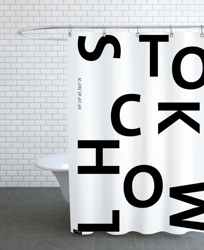 Cities - Stockholm Shower Curtain