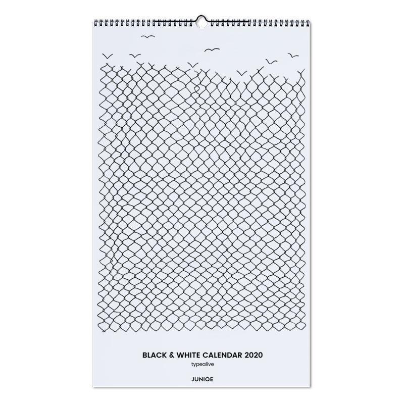 Black & White Calendar 2020 - typealive Wall Calendar
