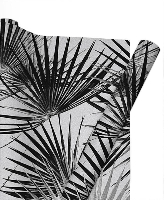 Motifs, Noir & blanc, Feuilles & Plantes, Tropical #5 papier cadeau