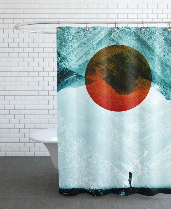 Abstract Landscapes, Found in isolation Shower Curtain