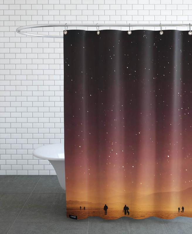 Skies & Clouds, Planet Walk Shower Curtain