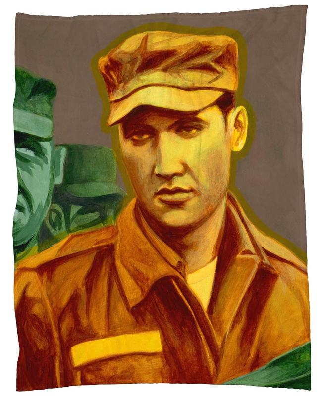 Elvis in the Army plaid