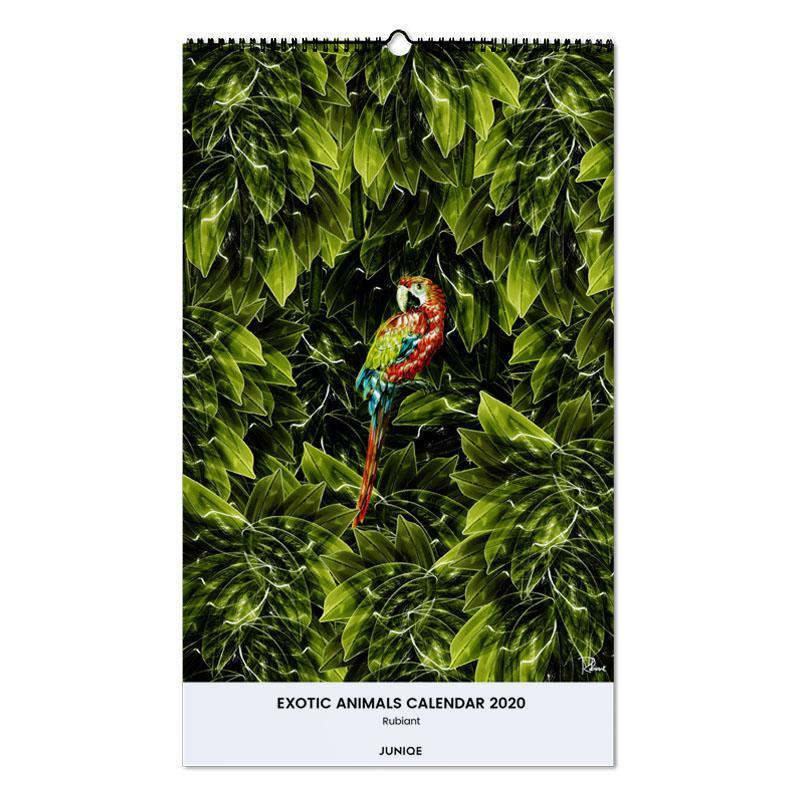 Exotic Animals Calendar 2020 - Rubiant calendrier mural