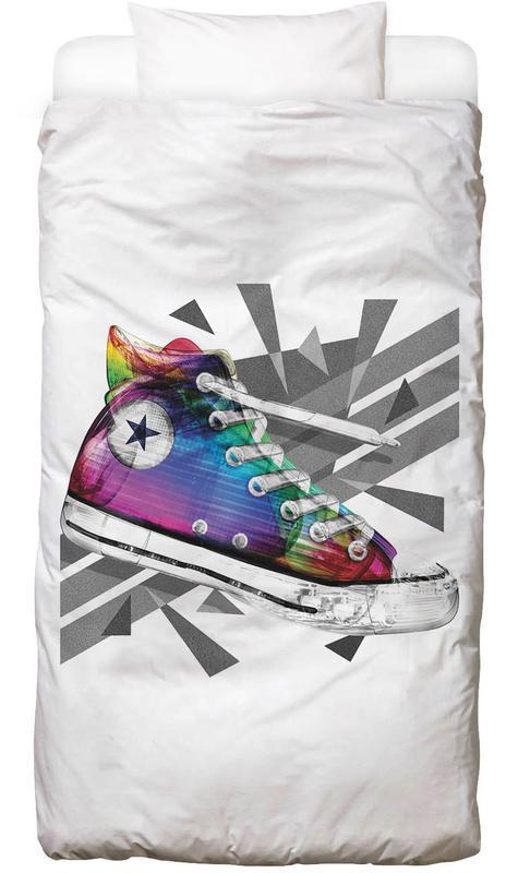 Mode-illustratie, Popart, All Star of My Life Rainbow Dekbedovertrekset