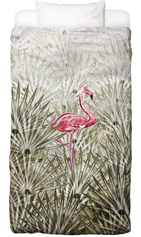 Flamingos, Leaves & Plants, Miami, Miami Flamingo Bed Linen