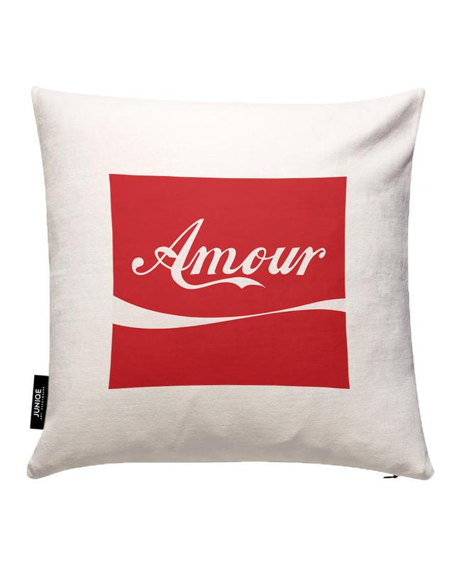 Amour Red Cushion Cover