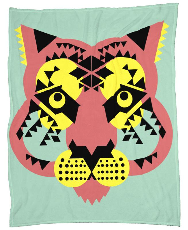 Tiger Face Fleece Blanket