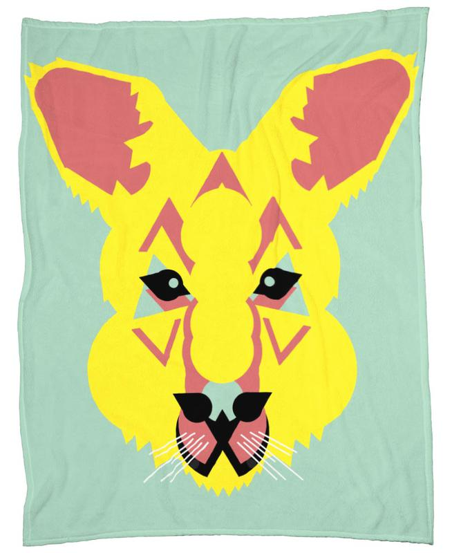 Skippy The Bush Kangaroo Fleece Blanket