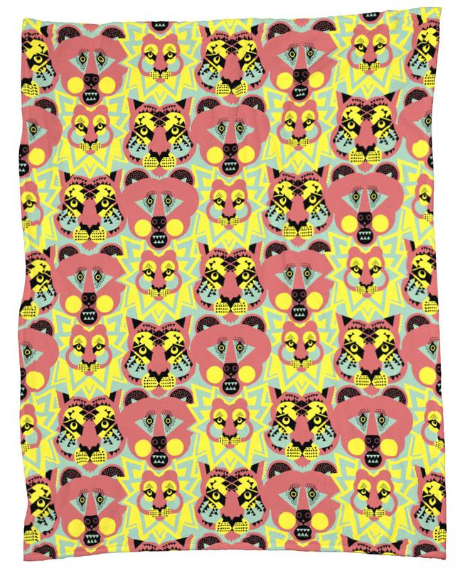 Lions and Tigers And Bears Fleece Blanket
