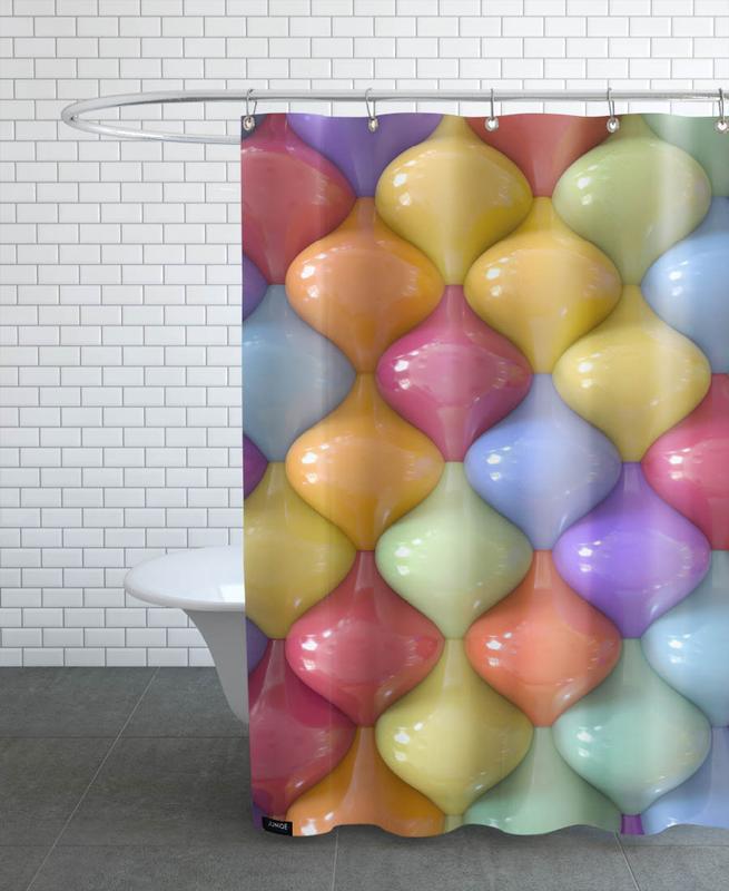 Oval -Duschvorhang
