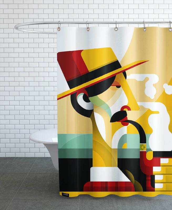 A man with a pipe Shower Curtain