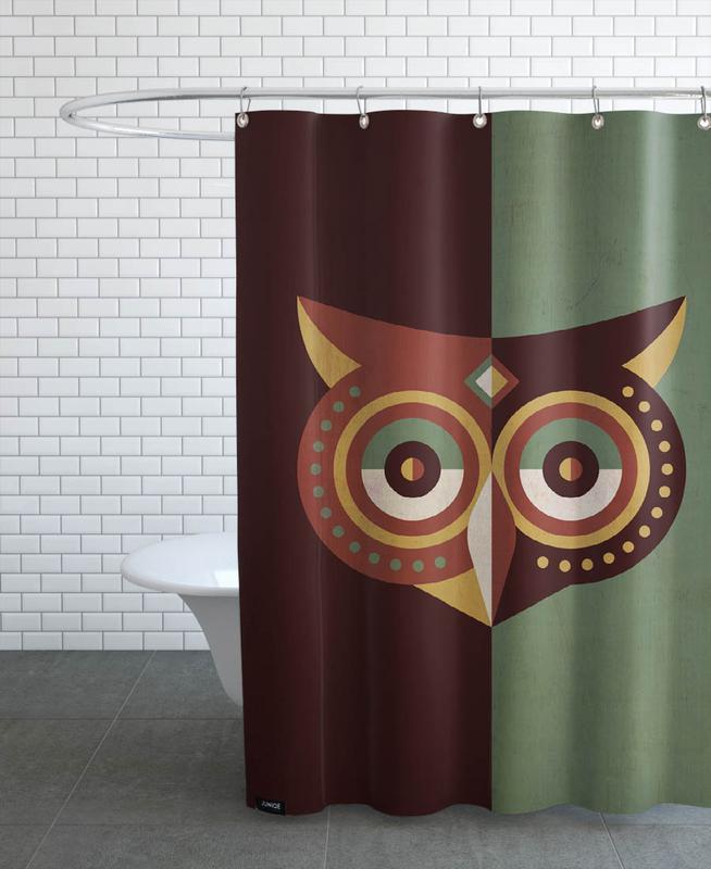 Chouettes, Owl Woods rideau de douche