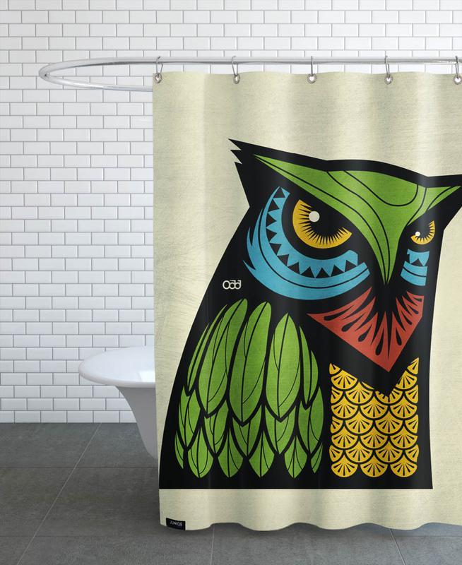 Owls, Owl Shower Curtain