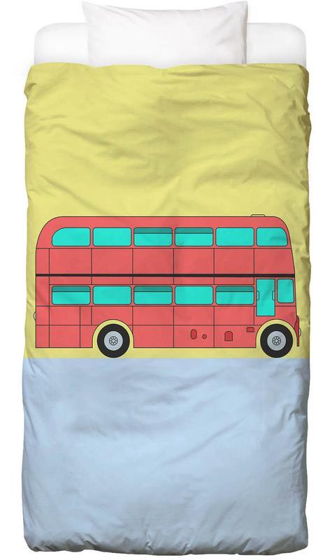 London, Cars, Nursery & Art for Kids, London Bus Tour Bed Linen