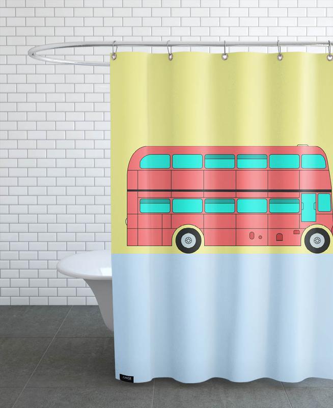 London Bus Tour Shower Curtain