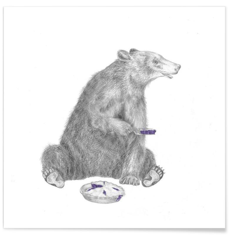 Bär-Zeichnung -Poster