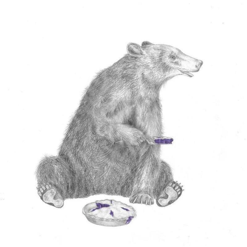 Albert Finnegan Black Bear Canvas Print