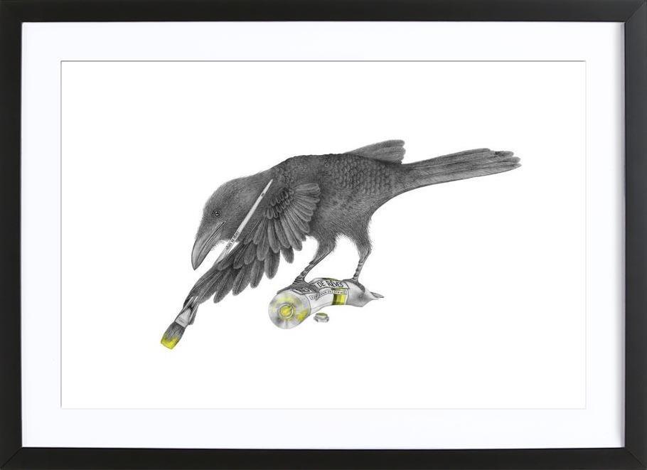 Aurora Belle Raven ingelijste print