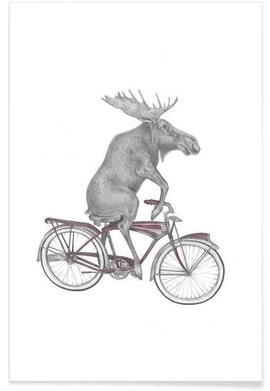 Moose Drawing Poster