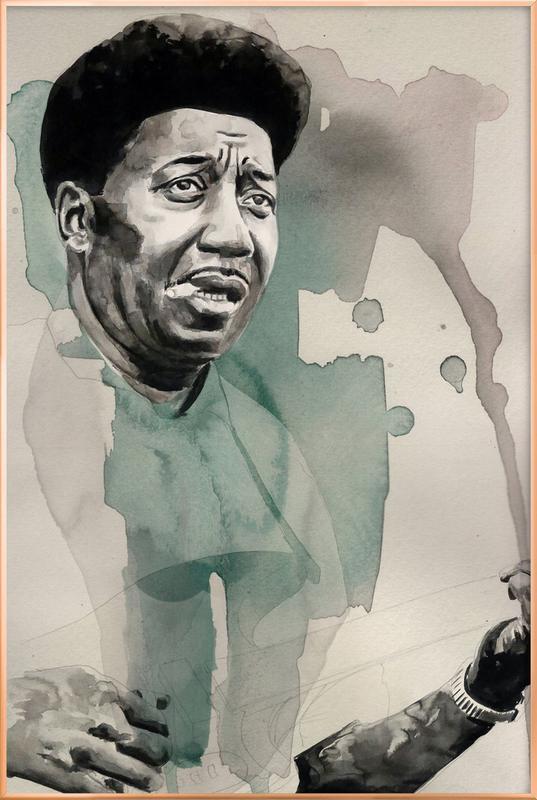 Muddy Waters -Poster im Alurahmen