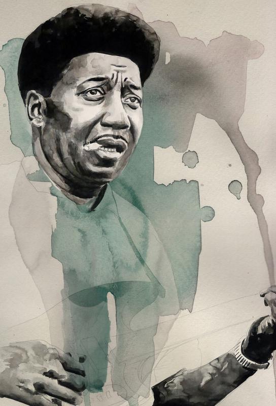 Muddy Waters -Acrylglasbild