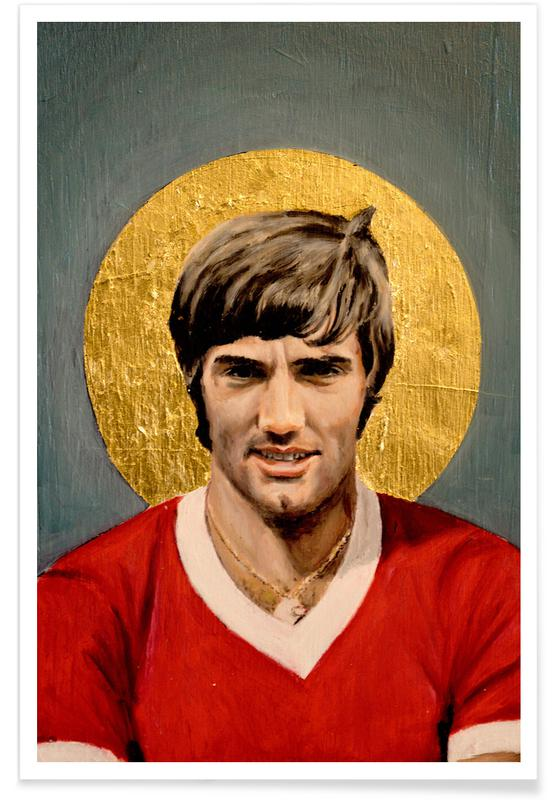 Football Icon - George Best -Poster